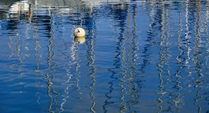 Reflections in the marina of Las Palmas de Gran Canaria. Beautiful reflections on calm water in the marina of Las Palmas de Gran Canaria stock photography