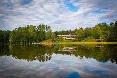 Beautiful reflections at Lake Norman State Park, North Carolina. Royalty Free Stock Photography