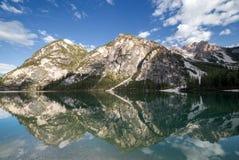 Beautiful reflections at Lake Prags Stock Photo