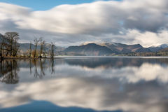 Beautiful Reflections In Lake At Ullswater In The Lake District. Royalty Free Stock Images