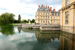 Beautiful reflections of the Palace du Luxembourg in Paris, France Stock Photography