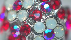 Beautiful reflections on the precious stones stock footage