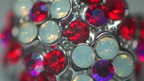 Beautiful reflections on the precious stones stock video