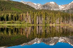 Colorado reflections in the Rocky Mountain National Park Stock Image