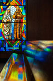 Stained Glass Reflections Royalty Free Stock Photo