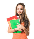 Beautiful relaxed young student girl. Stock Image