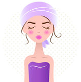 Beautiful relaxing Spa Woman Royalty Free Stock Images
