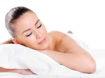 Beautiful relaxing woman Stock Images