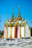 Beautiful religious building is white with gilding. Ayutthaya Thailand. Stock Images