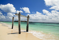 Beautiful Remote Beach Stock Photography