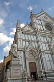 Monument of Dante and basilica Santa Croce, Florence, Italy Stock Photo