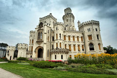 Beautiful renaissance castle Hluboka Royalty Free Stock Photography