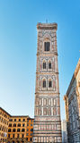 Beautiful renaissance tower of the cathedral Santa Maria del Fio Royalty Free Stock Images