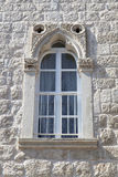 Beautiful renovated window in a stone house Stock Images