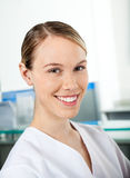 Beautiful Researcher Smiling Royalty Free Stock Images