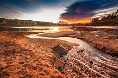 Beautiful reservoir. Stock Photos
