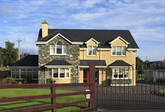 Beautiful residential country houses in Ireland Royalty Free Stock Photos
