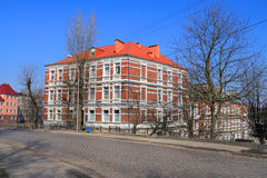 Beautiful residential house on Partizanskaya Street Stock Photo