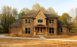 Beautiful Residential House Under Construction Royalty Free Stock Photos