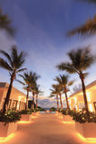 Beautiful resort at night Royalty Free Stock Photography