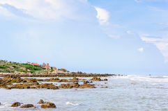 Beautiful resort and rocky beach in Ke Ga Cape Royalty Free Stock Photography