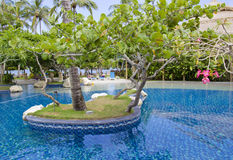 Beautiful Resort Scene in Bali Stock Images