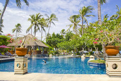 Beautiful Resort Scene in Bali Royalty Free Stock Photography