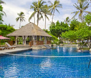 Beautiful Resort Scene in Bali ,Indonesia. Royalty Free Stock Photos