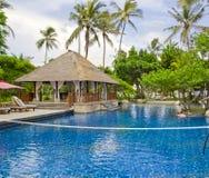Beautiful Resort Scene in Bali ,Indonesia. Royalty Free Stock Photos