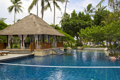 Beautiful Resort Scene in Bali ,Indonesia. Stock Image