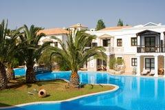 Beautiful Resort Swimming Pool Stock Photo