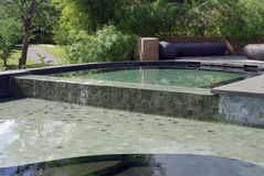 Beautiful resort swimming pool Stock Image
