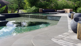 Beautiful resort swimming pool Royalty Free Stock Photography