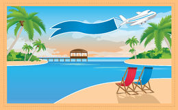 Beautiful resort on the tropical island Royalty Free Stock Image