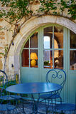 Beautiful restaurant in a French village Royalty Free Stock Image