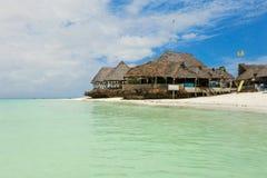 Beautiful restaurant at the oceanfront. Tanzania, Zanzibar Islan. D Royalty Free Stock Photo