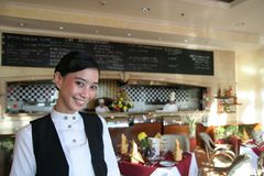 Beautiful restaurant staff Royalty Free Stock Photos