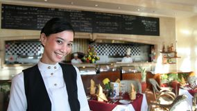 Beautiful restaurant staff royalty free stock photography