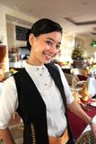 Beautiful restaurant staff Stock Photo