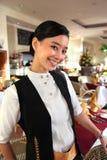 Beautiful restaurant staff stock photo