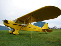 Beautiful restored classic Piper J3 Cub. Stock Photo