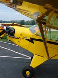Beautiful restored classic Piper J3 Cub. The photo of this beautiful restored classic Piper J3 Cub was taken at the Marion Municipal Airport in Marion, Indiana Stock Photos