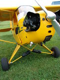 Beautiful restored classic Piper J3 Cub. The photo of this beautiful restored classic Piper J3 Cub was taken at the Marion Municipal Airport in Marion, Indiana Stock Images