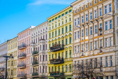 Beautiful restored houses in Berlin. Beautiful restored houses at the Prenzlauer Berg district in Berlin Royalty Free Stock Images