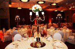 Beautiful restourant decorations for party or wedding. royalty free stock photos