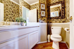 Beautiful restroom in luxury house Stock Photography