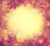 Beautiful retro autumn season bokeh illustration background Stock Image