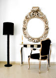 Beautiful Retro baroque mirror Royalty Free Stock Images