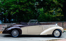 Beautiful retro car. Elegance and style of  first part of XX cen Royalty Free Stock Photography