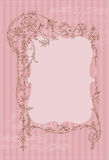 Beautiful Retro Card with photo frame Royalty Free Stock Image